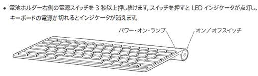 Apple Wireless Keyboardの電源のオンオフ