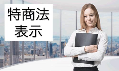 特商法表示 ~ 経済産業省の特定商取引法のページの広告表示に基づいて。