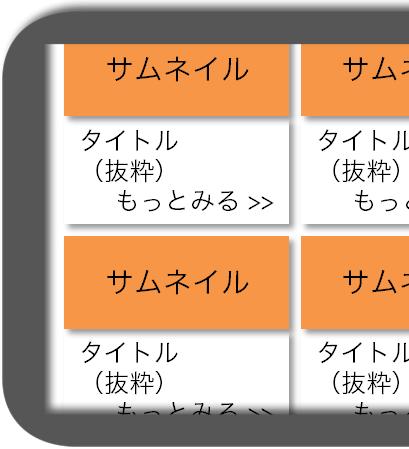 マニュアルによるスマホWebの完成予想図:カテゴリートップ/タグトップ:スマホ横画面1