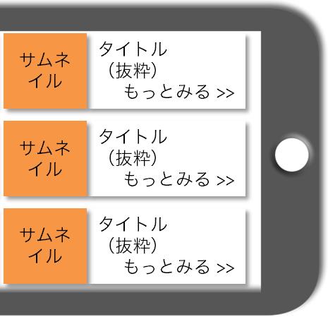 マニュアルによるスマホWebの完成予想図:カテゴリートップ/タグトップ:スマホ横画面2