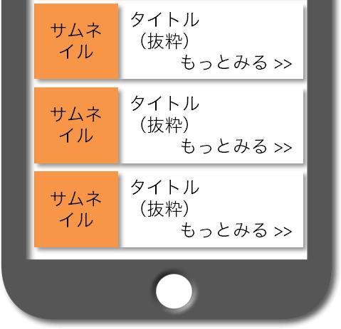 マニュアルによるスマホWebの完成予想図:カテゴリートップ/タグトップ:スマホ縦画面2